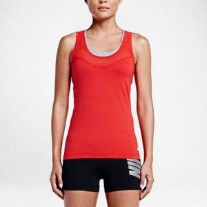 3/$30 Nike Hypercool Tank Top red/orange size Xs